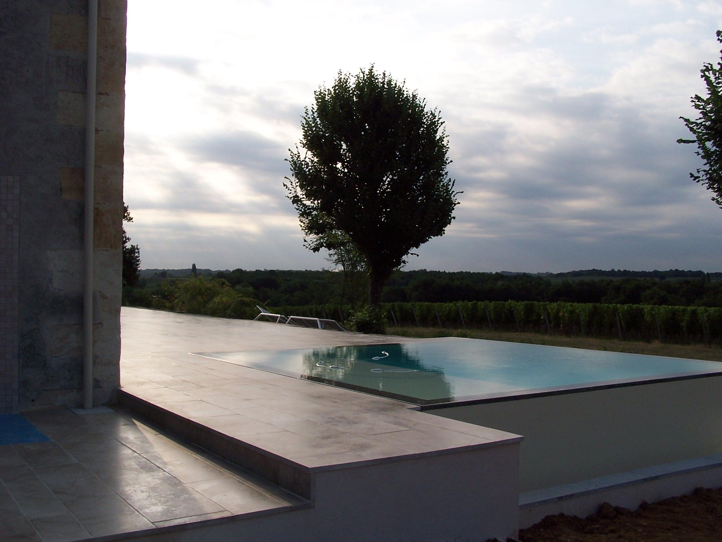 Rénovation extérieure gironde piscine Lespinasse Bâtiment